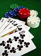 playing games flash winning poker royal stock photography