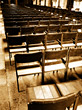 religion christian church chairs empty seating stock image