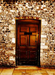 old wooden ancient door antique stock photo