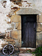 old ancient wooden door antique stock image