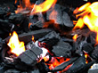 charcoal flames hot special effects burning stock photo