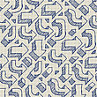 Arrows Seamless Pattern On Paper Of Exercise Book stock illustration