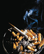 Ashtray with Cigarettes stock photography