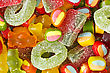 Assortment Of Colorful Jelly And Sugar Sweets stock photo