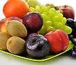 Assortment Of Fresh Fruits ,close Up Shot