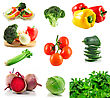Assortment Of Fresh Organic Vegetables From Garden stock photo
