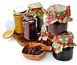 Assortment Of Homemade Jam In The Glass Jars