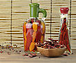 Assortment Of Hot Pepper On A Wooden Table stock image