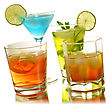 Assortment Of Cold Drinks stock photography