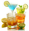 Assortment Of Cold Drinks stock image