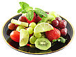 Assortment Of Fresh Fruits On A Plate stock photo