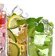 Assortment Of Fruit Cold Drinks stock image