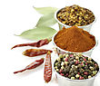 Redpeppers Assortment Of Spices stock photography