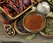 Assortment Of Spices On A Wooden Background stock image