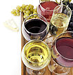 Assortment Of Wine Glasses ,Close Up stock photo