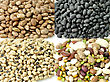 Staple Assortment Of Raw Beans stock photo