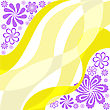 Asymmetric Background With Yellow And Purple Waves