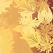 Autumn Falling Leaves Background Illustration