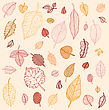 Autumn Falling Leaves Set. Background. Vector Illustration