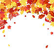 Autumn Frame With Maple, Rowan, Oak And Dog Rose Leaves And Berries Over White Background. Elegant Design With Text Space And Ideal Balanced Colors. Vector Illustration