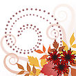 Autumn Leaves And Flowers stock illustration