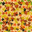 Autumn Leaves Seamless Pattern. Abstract Background, Easy To Edit, Copy Paste stock vector