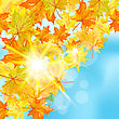 Autumn Maple Leaves Background. Vector Illustration With Transparency And Meshes. EPS10 stock illustration