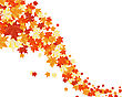 Autumn Maples Falling Leaves Background. Vector Illustration. stock illustration