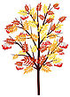 Autumn Rowan Tree With Leaves And Berries On White Background. Elegant Design With Ideal Balanced Colors. Vector Illustration