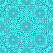 Azure Ornamental Seamless Line Pattern. Endless Texture. Oriental Geometric Ornament