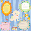 Baby Announcment Text Cards, Design Elements
