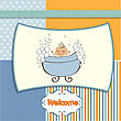 Baby Boy Shower Card stock vector