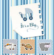 Baby Boy Shower Invitation In Vector Format