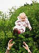 Baby Flying In The Sky stock image