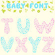 Baby Font Design. Eps 10 Vector Illustration Without Transparency