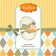 Baby Shower Card In Vector Format