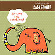Baby Shower Card Template With Funny Doodle Elephant, Vector Format stock vector
