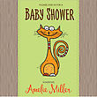 Baby Shower Card Template With Funny Doodle Cat, Vector Format