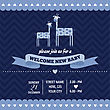 Baby Shower Invitation With Giraffe In Retro Style, Vector Format