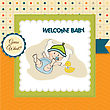 Babyboy Shower Card, Illustration In Vector Format