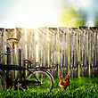 Back To The Village! Abstract Rural Backgrounds stock image