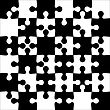 Background Black And White Jigsaw Puzzle. Vector Illustration