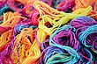 Background Of Bright Yarn. Bright Soft Yarn Multi Colors stock photography