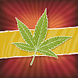 Background With Cannabis Leaf And Rasta Colors stock illustration