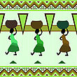 Culture Background Illustration With African Motives Design, Pattern stock image