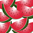 Background Illustration With Slices Of Watermelon
