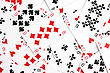Background Made With Playing Cards Randomly Displaced stock image
