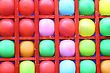 Background Of Motley Balloons-darts Streets-attraction. Close-up. Outdoor Photography stock photography
