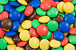 Background Of Multicolored Candy Coated Chocolate Sweets stock photography
