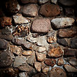 Level Background Of Old Stone Wall Texture stock image